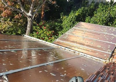 High pressure roof washing