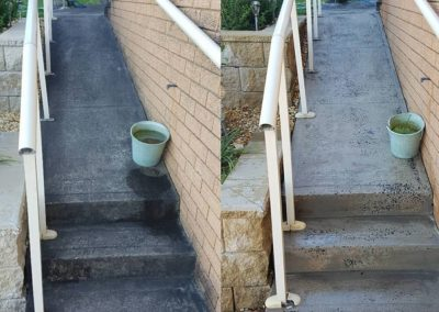 High pressure washing stairs